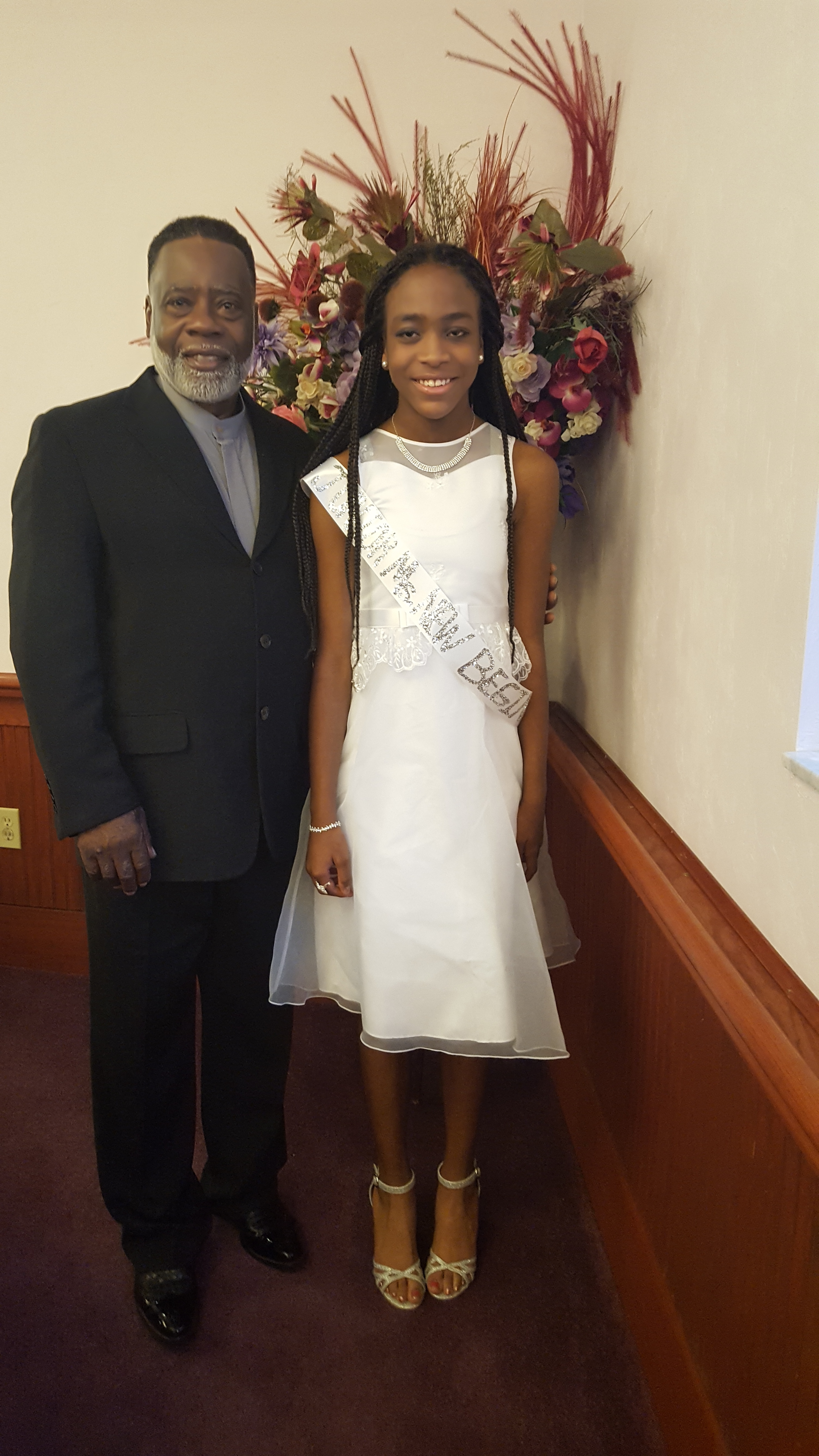 Gainesville District Debutante Ball Winner_Miss Jacaria Walton and Pastor Armstrong